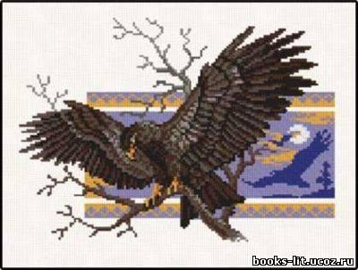 Схема для вышивки крестом Орел