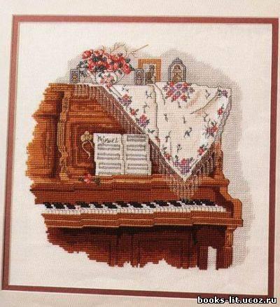 Схема для вышивки крестом рояль