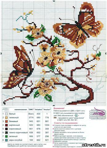 Вышивка схема бабочки скачать бесплатно фото 47