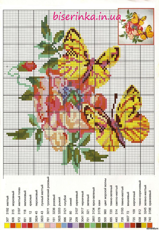 Вышивка схема бабочки скачать бесплатно фото 292