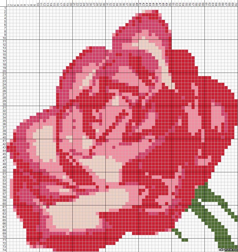 Схемы вышивок крупной клеткой цветы