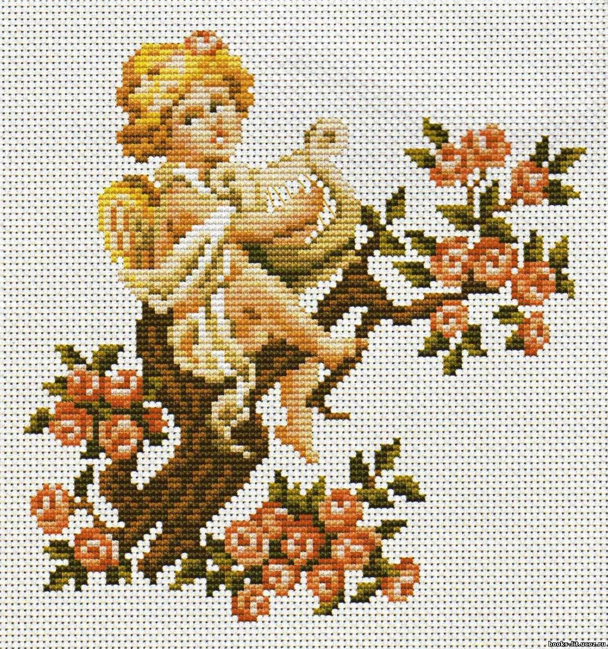 схема вышивки крестом ангелочки