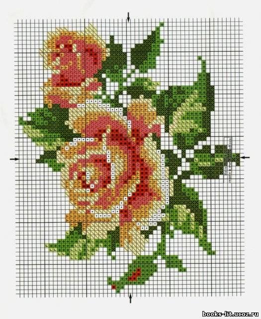 """схема для вышивки """"Розы"""""""