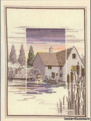 Схема для вышивки крестом Дом