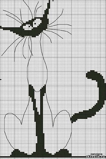 Схема для вышивки крестом: