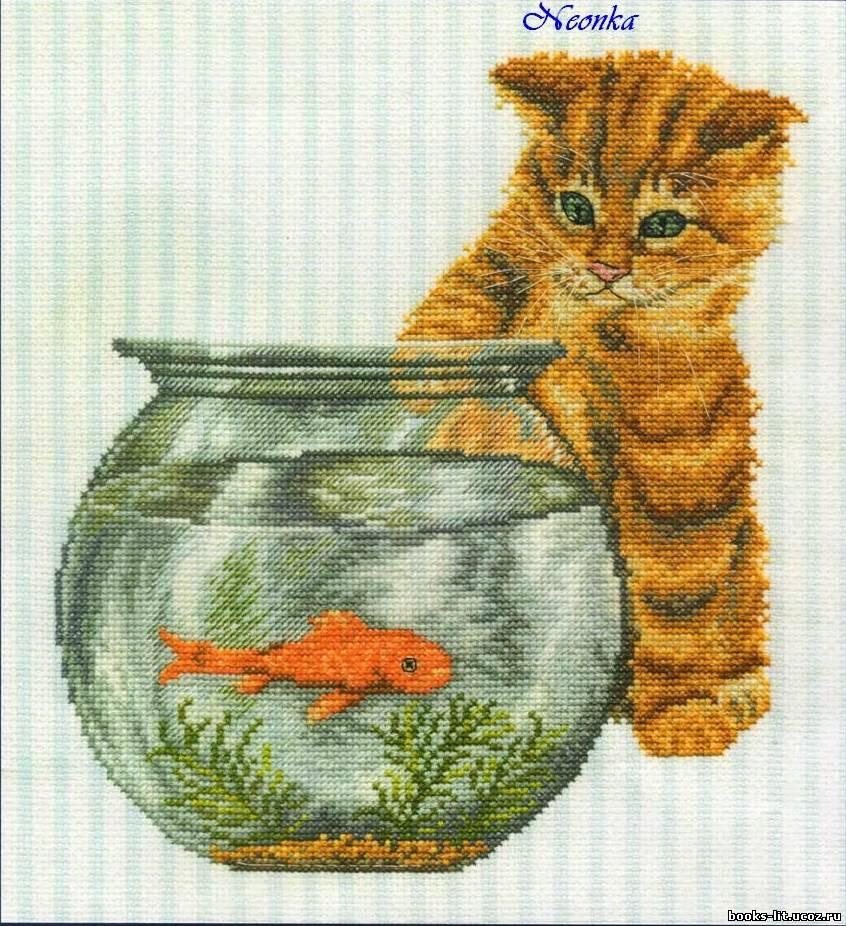 Бесплатно схемы вышивки рыбки