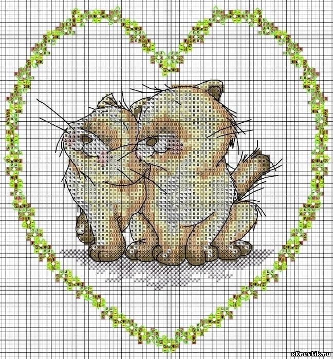 схемы для вышивки животных