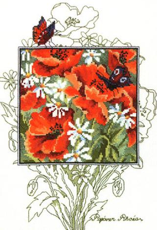 Схема для вышивки крестом Маки