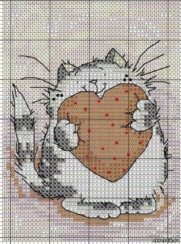 Схема для вышивки крестом: Кот