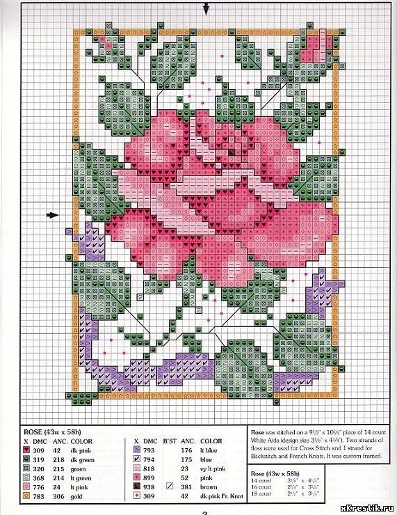 Схема вышивки крестом замок фото 28