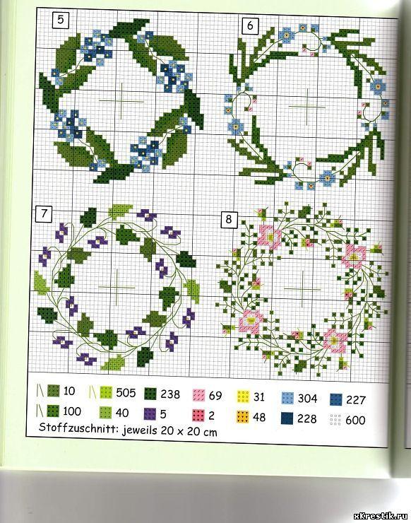Маленькие вышивки схемы цветов 35