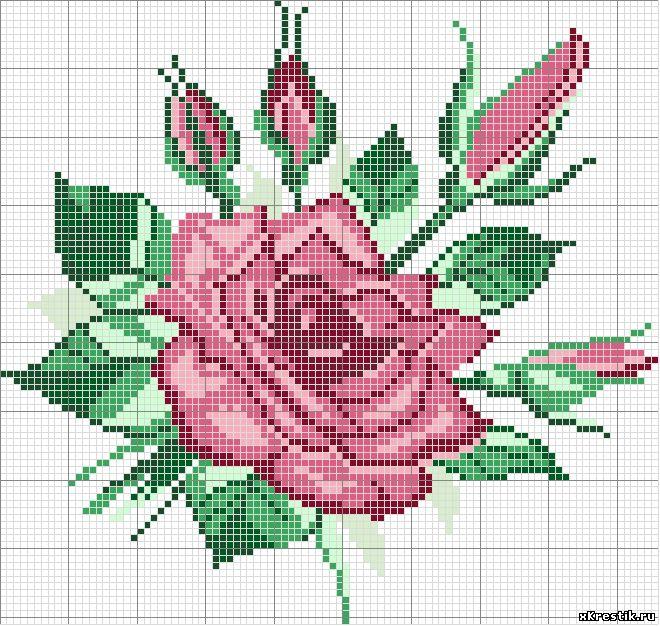 Цветы - каталог статей - бесплатные схемы для вышивки кресто.